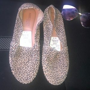 Adam tucker cheetah print flat loafers